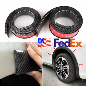 Usa 2x 1 5m Carbon Style Rubber Car Fender Flares Wheel Trim Moulding Protector