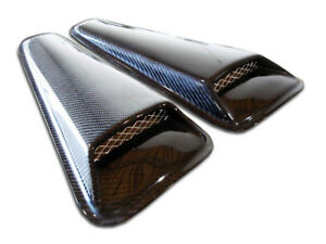 2005 2009 Ford Mustang Carbon Creations Racer Window Scoop Louvers