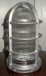 New Old Stock Stonco Philips Industrial Cast Guard W clear Prismatic Glass