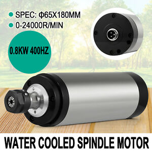 0 8kw Water Cooled Spindle Motor Precise Inverter Mill Grind Free Shipping