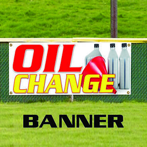Oil Change Mechanic Workshop Indoor Outdoor Vinyl Banner Sign