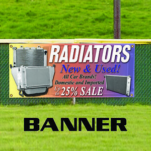 Radiators New Used Up To 25 Sale Indoor Outdoor Vinyl Banner Sign