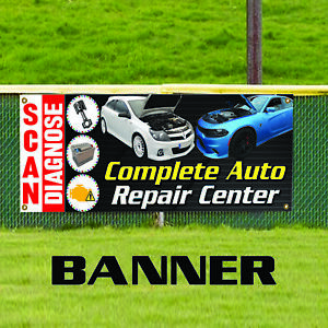 Scan Diagnose Auto Repair Center Indoor Outdoor Vinyl Banner Sign