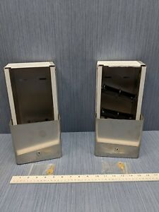Lot Of 2 Twin 9 Roll Toilet Paper Dispenser Stainless Steel