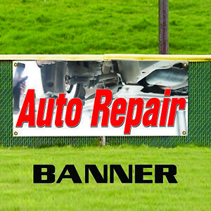Auto Repair Workshop Mechanic Indoor Outdoor Vinyl Banner Sign