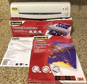 Scotch Tl900 Thermal Full Size Page Laminator Plus Sealed Packet Of 9 X 11 P