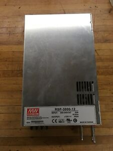 Mean Well Rsp 3000 12 Power Supply 12v 2400w 200a used