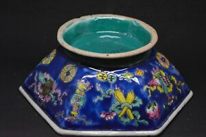 Antique Chinese Export Bowl 6 Inches Wide Marked China