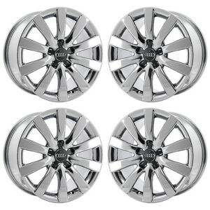 17 Audi A4 Pvd Chrome Wheels Rims Factory Oem 58837 Exchange