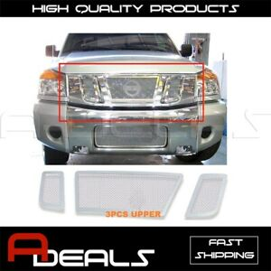 For Nissan Titan 2008 09 10 11 2012 13 14 2015 Stainless Wire Mesh Grille Insert