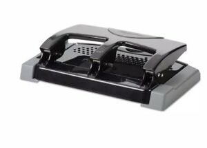 Swingline 45 sheet Smarttouch Three hole Punch 9 32 Inches Holes Black grey