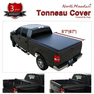 5 7 67 For 2019 Ram 1500 Short Bed Lock Roll Up Soft Tonneau Cover