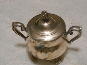 Silver Plated Sugar Bowl Victorian Rose 1903 Wm Roger Sons With Lid View Pics