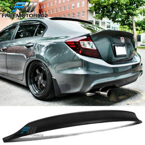 Fits 12 Honda Civic Sedan Ikon Duckbill V2 Style Trunk Spoiler Unpainted