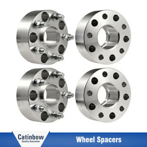 4pcs 2 Hubcentric Wheel Spacers Silver Fit Jeep Jk Jku Wrangler Grand Cherokee