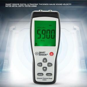 Digital Ultrasonic Thickness Gauge Meter Metal Depth Tester As840 1 2 225mm