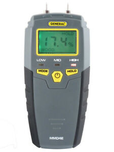 General Tools Mmd4e Moisture Meter Wood Humidity Moisture Pin Type Digital Lcd