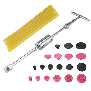 Pdr Slide Hammer Puller Lifter Kit Paintless Dent Repair Tabs Hail Removal Tools