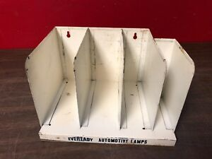 Vintage Eveready Auto Lamp Light Bulb Dealer Gas Station Metal Counter Display