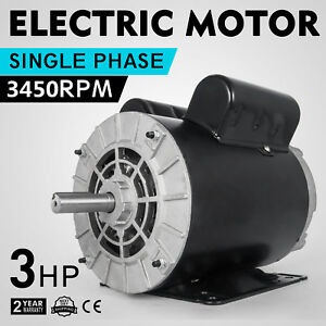 Cm03256 Electric Motor 3 Hp 1 Phase 3450rpm 5 8 shaft Home Air Compressor 60 Hz