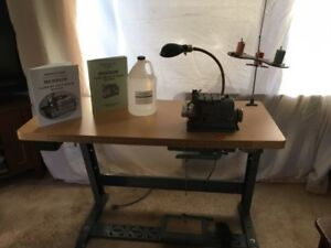 Merrow M 3dw 3 Thread Industrial Sewing Machine Plus Table stand