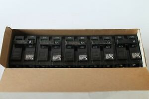 5 Ge General Electric 2 Pole 120 240v Circuit Breakers Thql2115 15 Amp Nos