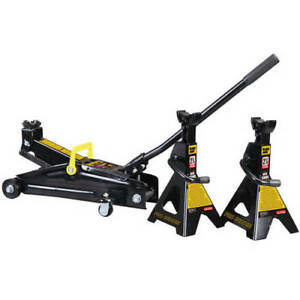 Torin Black Jack 2 1 4 Ton Hydraulic Trolley Jack With 2 Jack Stands T82253w