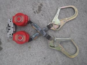 Miller honeywell Twin turbo Tie off fall Protection System 6ft Mf 4 27 Used