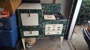 Rare Green Enamel Magic Chef Quick Meal 1920 S Gas Stove Working