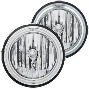 Anzo Driving Lights 2005 2009 Ford Mustang Euro Fog Lights Clear W Halo ccfl