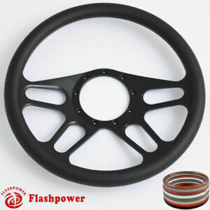 15 5 Billet Steering Wheels Black Custom Chevy Ididit Flamingriver