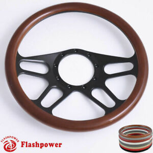 15 5 Billet Steering Wheel Wood Wrap Custom Chevy Camaro Gmc