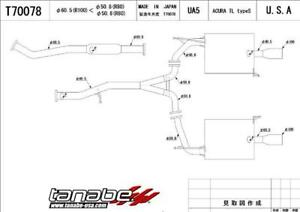 Tanabe Medallion Touring Dual Muffler Catback Exhaust For 01 03 Tl Type S
