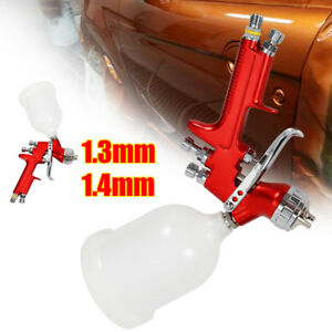 Hvlp Spray Gun Professional Car Paint Gun 1 3mm 1 4mm Nozzle 600ml Feed Cup Top