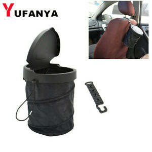 Car Dust Bin Storage Bucket Trash Can Container Rv Pop Up Garbage Bag Foldable