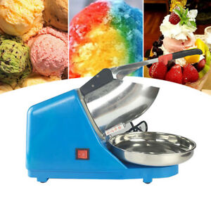 Commercial Blue Electric Ice Crusher Shaver Machine Snow Cone Maker Shaved Ice
