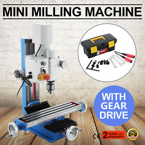 Mini Milling Drilling Machine With Gear Drive 250mm 9 84 Vertical 500w