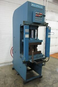 Multipress 10 ton C frame Hydraulic Press Used Am17834