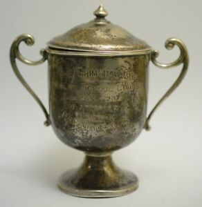 Barton Trophy 1922 Sterling Silver Cup Cavalry School Course The Grimshaw