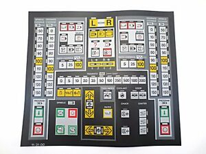 Cnc Machine Keypad Replacement Membrane overlay 11 31 00 Nos