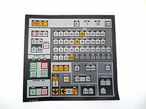 Cnc Machine Keypad Replacement Membrane overlay 11 13 00 Nos
