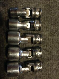 Snap on 1 4 Drive 6 point Metric Flank Drive Shallow Universal Sockets