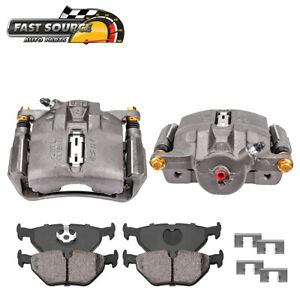 Front Oe Brake Calipers Pair Ceramic Pads For Acura Legend Rl Tl