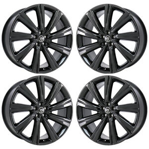 22 Jaguar F Pace Turbine Black Chrome Wheels Rim Factory Oem 59980 Exchange