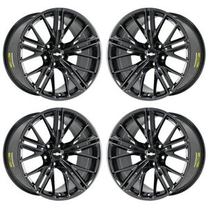 20 Chevrolet Camaro Zl1 Black Chrome Wheels Rims Factory Oem 5773 74 Exchange