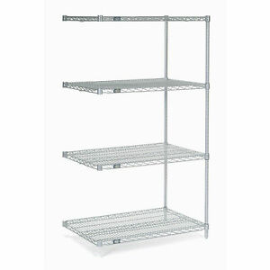 Chrome Wire Shelving Add on 24 w X 24 d X 54 h Lot Of 1