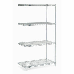 Chrome Wire Shelving Add on 36 w X 14 d X 54 h Lot Of 1