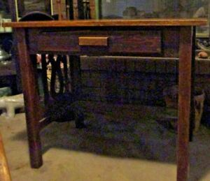 Oak Mission Arts And Crafts Library Table