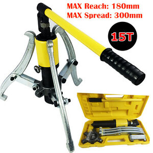 3in1 Universal Hydraulic Gear Puller Pumps Oil Tube 3 Jaws Drawing Machine 15ton