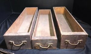 Lot Of 3 Vintage Treadle Sewing Machine Cabinet Wooden Drawers